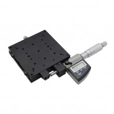 SEMX100-AS X-Axis Manual Linear Stage High Precision 100*100mm with Digital Micrometer LCD Display