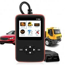 V500 Heavy Duty Truck Diagnostic Scanner Truck OBD2 Scanner DPF/Oil Reset Code Reader w/ Color Screen