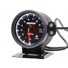"""2.5"""" 60mm Universal Car Tachometer RPM Gauge Meter w/ 7-Color Changeable Backlight 6290BB"""