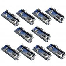 10pcs Nano V3.0 ATMEGA328P Welded Modules CH340G Upgraded Board for Arduino CH340 USB Driver