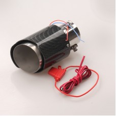 Universal Car Exhaust Muffler Silencer Car Exhaust Pipe Tail Throat LED Stainless Steel
