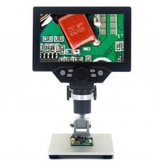 "Digital Microscope 12MP 1200X 1080FHD 7"" LCD Display Adjustable Angle 8 LEDs  G1200 Standard Version"