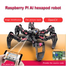 18DOF Hexapod Robot Spider Robot 2DOF PTZ with Main Board for Raspberry Pi 3B+ Finished