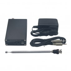 1mW PLL Stereo FM MP3 Transmitter Mini Radio Station 87-109MHz w/ Power Adapter Antenna Shield Wire
