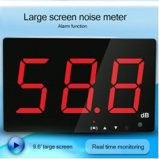 "Sound Level Meter Wall Mounted Noise Level Meter 30-130dB 9.6"" LED Data Storage Transmission SW-525B"