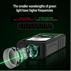 Laser Distance Meter 50M Digital Laser Rangefinder Voice Broadcast for Outdoor Indoor Uses SW-50G