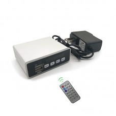 Bluetooth MP3 Decoder Board w/ Color Display Finished Silver + 12V Power Cord + Remote Control