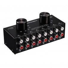 RCA Audio Selector Audio Input Signal Selector Switch Support 6 IN 2 OUT & 2 IN 6 OUT RCA Ports