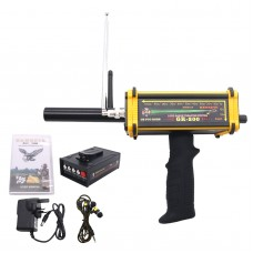 GR-200 Long Range Metal Gold Detector Underground 100m w/ 3D LED Display 2 Antennas Plastic Case