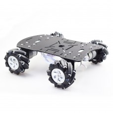 4WD 60mm Mecanum Wheel Robot Car Chassis Kit w/ MG513 Encoder Motor for Arduino Raspberry Pi DIY Project STEM Toy