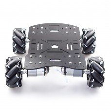 4WD 60mm Mecanum Wheel Robot Car Chassis Kit Suspension Car Platform for Arduino Raspberry Pi DIY