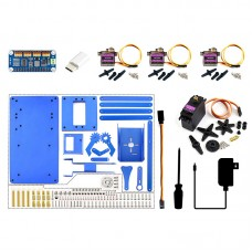 4-DOF Robotic Arm Kit DIY Robot Arm Kit For Raspberry Pi Bluetooth WiFi Remote Control Unfinished