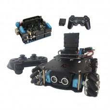 4WD Smart Car Chassis Mecanum Wheel Chassis Unfinished + Wireless Controller (No Ultrasonic Module)