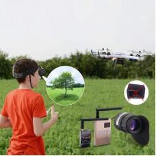 Head Mounted Display Wearable Video Display 1024*768 For FPV RX TX (With CVBS Interface)