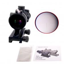 ACOG Scope 4x32 Tactical Scope Real Fiber Optic Red Illuminated Optical Sight