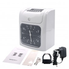 Time Card Machine Employee Time Clock Time Card Clock w/ 50 Time Cards & 2 Keys & 1 Ribbon