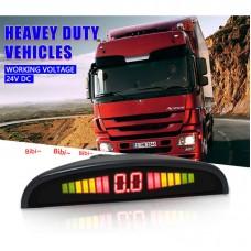 Car LED Display 4 Parking Sensor Reversing Parking System with Audio Buzzer & LED Display
