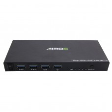 4 Port HDMI KVM Switch 4 IN 1 OUT For 4Kx2K Support 18Gbps/ HDMI 2.0/ HDCP 2.2 AM-KVM401