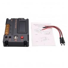20A Solar Charge Controller Solar Panel Battery Regulator Auto Switch Solar Controller Temperature Compensation 12V/24V