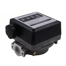 FM-120 4 Digital Gasoline Fuel Petrol Oil Flow Meter 20-120L/Min Four Digital for Diesel Fuel Oil Flow Meter Counter