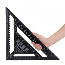 "30cm Aluminium Set Square ruler 12"" Protractors Rafter Angle Frame Measuring Carpenter Measurement woodworking Triangular Rule"