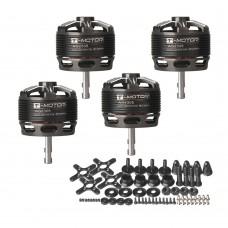 4pcs T-Motor Brushless Motor 2600KV Long Shaft For Small 3D Trainer Slider (AS2308 KV2600)