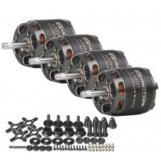4PCS 1250KV T-Motor Brushless Motor Long Shaft For Trainer Slider Small 3D (AS2317 KV1250)
