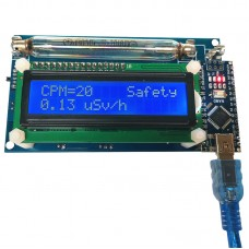 Open Source Geiger Counter Radiation Detector DIY Module with LCD Display Assembled
