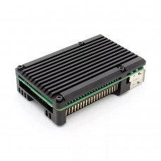 For Raspberry Pi 4B Case Aluminum Alloy Shell Heat Sink DIY Unfinished (Without Fan)