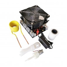 4000W ZVS Induction Heater Main Unit + Heating Coil + Water Pump + Pump Power Supply + 70mL Crucible