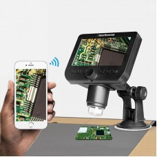 "2MP 50X-1000X WiFi Digital Microscope w/4.3"" LCD Display For Circuit Detection Industrial Repairs"