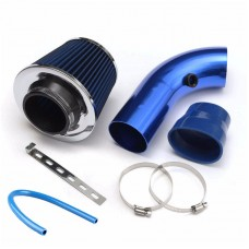 "76mm/3"" Car Cold Air Intake Filter Kit Aluminum Induction Kit Pipe Hose System XH-UN058"