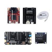 "Basic Version For pyAI-OpenMV4 Cam + pyAI-OpenMV4 Adapter Board + pyBase + 0.9"" OLED + USB Cable"