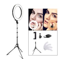 RL-18 LED Ring Light 18 inch Makeup Lamp with Tripod Mirror High CRI LED 5500K Camera Photo Youtuber Studio Video Lamp