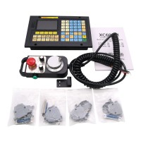 4Axis CNC Controller Kit MPG Pendant Handwheel w/Emergency Stop +  4-Axis CNC Controller XC609MD