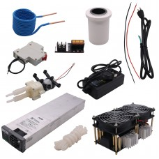 1800W ZVS Induction Heater Main Board+Coil+Crucible+Water Pump+Pump Power Supply+DC48V Power Supply