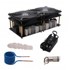 ZVS Induction Heater 2500W Main Unit + Heating Coil (Copper Tube)+ Fan Power Supply