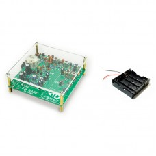 88-108MHz FM Radio DIY Radio Receiver with Acrylic Shell Fully Discrete Assembled Version