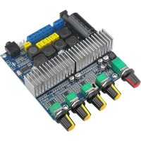 2.1 Audio Amplifier TPA3116 Amplifier Bluetooth 4.2 100W+50W+50W DC12-24V Assembled (with Bluetooth)