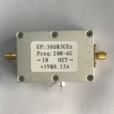 20M-6GHz RF Low Noise Amplifier Broadband LNA Amplifier High Gain 30dB