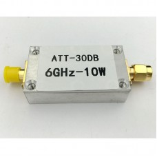 10W 30DB RF Attenuator SMA Fixed Attenuator Work with Power Meter Spectrum Analyzer