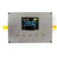 """100KHz-500MHz RF Power Meter Settable RF Power Attenuation Value CNC Shell 0.96"""" OLED RF-500-V2.0"""