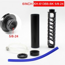 "6"" Spiral 5/8-24 Fuel Filter Car Fuel Filter Kit Aluminum Alloy Perfect For NAPA4003 WIX24003"
