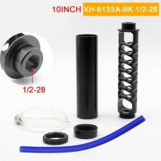 "1/2-28 Fuel Filter 10"" Spiral Car Fuel Filter Kit Aluminum Alloy For NAPA 4003 WIX 24003"