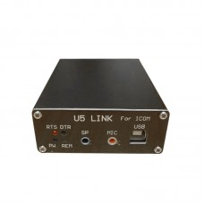 2020 Version U5 Link For ICOM Radio Connector with Power Amplifier Interface (DIN13-DIN8 Data Cable)