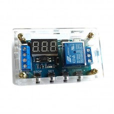 1-Channel Relay Module with Shell Delay Power Off Trigger Delay Cycle Timing Switch Disassembled