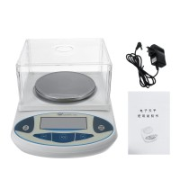 2000x0.01g Digital Lab Scale Balance Electronic Balance Scale Portable High Precision Jewelry Scale