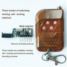 433MHz Wireless Remote Control Switch with Antenna Remote Control Transmitter Receiver Control Motor