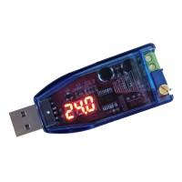 DC-DC Buck Boost Converter USB Adjustable Step Up Down Power Supply Module 5V to 1-24V (Red Light)