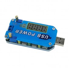 15W 2A USB Buck Boost Converter Adjustable Step Up Down Power Supply Module with Shell Assembled
